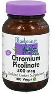 Image of Bluebonnet Nutrition - Chromium Picolinate Chelated 500 mcg. - 100 Vegetarian Capsules