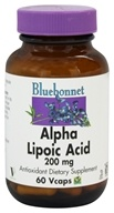 Bluebonnet Nutrition - Alpha Lipoic Acid 200 mg. - 60 Vegetarian Capsules by Bluebonnet Nutrition