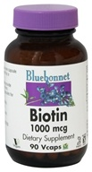Bluebonnet Nutrition - Biotin 1000 mcg. - 90 Vegetarian Capsules by Bluebonnet Nutrition