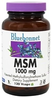 Bluebonnet Nutrition - MSM Patented Methylsulfonylmethane Sulfur 1000 mg. - 120 Vegetarian Capsules (743715009608)