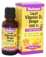 Bluebonnet Nutrition - Liquid Vitamin D3 Drops Natural Citrus Flavor 1000 IU - 1 oz. (743715003743)