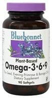Bluebonnet Nutrition - Plant-Based Omega 3-6-9 1000 mg. - 90 Softgels