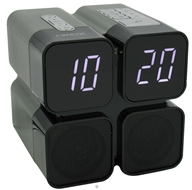 Image of HoMedics - HMDX Quad Alarm Clock HX-B050 - CLEARANCE PRICED