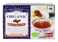 Image of St. Dalfour - Deluxe Organic Tea Black Cherry - 25 Tea Bags