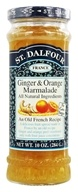 St. Dalfour - Fruit Spread 100% Natural Jam Ginger & Orange Marmalade - 10 oz.