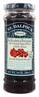 St. Dalfour - Fruit Spread 100% Natural Jam Red Raspberry & Pomegranate - 10 oz., from category: Health Foods