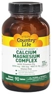 Country Life - Calcium Magnesium Complex With Vitamin D3 - 90 Tablets (015794029717)