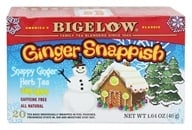 Image of Bigelow Tea - Herb Tea Ginger Snappish with Lemon - 20 Tea Bags