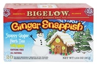 Bigelow Tea - Herb Tea Ginger Snappish with Lemon - 20 Tea Bags (072310010888)