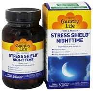 Country Life - Stress Shield Nighttime - 60 Capsules Contains Jujube - $25.19