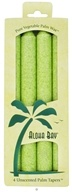Image of Aloha Bay - Palm Tapers Unscented Candles Melon Green - 4 Pack