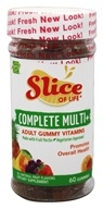 Hero Nutritional Products - Slice of Life Vegetarian Multi+ Gummy Vitamins for Adults - 60 Gummies