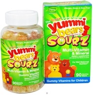 Hero Nutritional Products - Yummi Bears Sourz Multi-Vitamin & Mineral Gummy Vitamins for Children - 90 Gummies