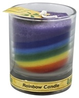 Image of Aloha Bay - Palm Wax Votive Jar Candle Unscented Rainbow - 2.5 oz.