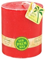 "Aloha Bay - Eco Palm Wax Pillar Candle 3"" x 3.5"" Holiday Spice"