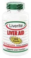 Liverite Products - Liver Aid + Milk Thistle - 150 Capsules - $19.79