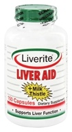 Liverite Products - Liver Aid + Milk Thistle - 150 Capsules by Liverite Products