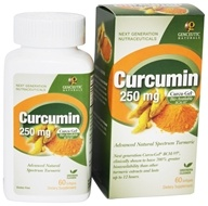Genceutic Naturals - Curcumin Advanced Bio-Available Form with BCM-95 250 mg. - 60 Softgels (896245001168)