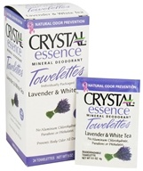 Crystal Body Deodorant - Crystal Essence Mineral Deodorant Towelettes Lavender & White Tea - 24 Towelette(s) by Crystal Body Deodorant