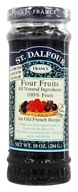 St. Dalfour - Fruit Spread 100% Natural Jam Four Fruits - 10 oz. (084380957840)