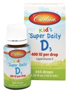 Carlson Labs - Super Daily D3 Liquid Vitamin D For Kids 400 IU - 0.37 oz. (088395012600)