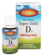 Carlson Labs - Super Daily D3 Liquid Vitamin D 365 Drops 1000 IU - 0.38 oz. - $9.99