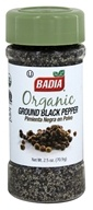 Badia - Organic Ground Black Pepper - 2.5 oz.