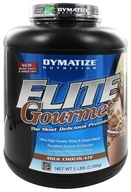 Image of Dymatize Nutrition - Elite Gourmet Protein Whey & Casein Blend Powder Milk Chocolate - 5 lbs.