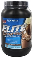 Image of Dymatize Nutrition - Elite Gourmet Protein Whey & Casein Blend Powder Milk Chocolate - 2 lbs.
