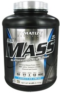 Image of Dymatize Nutrition - Elite Mass Gainer Hi-Protein Muscle Gainer Vanilla Ice Creme - 6 lbs.