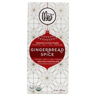 Theo Chocolate - Classic Collection Organic Milk Chocolate 45% Cacao Gingerbread Spice - 3 oz.