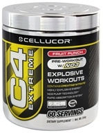 Cellucor - C4 Extreme Pre-Workout with NO3 Fruit Punch 60 Servings - 360 Grams by Cellucor