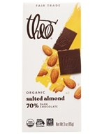 Theo Chocolate - Classic Collection Organic Dark Chocolate 70% Cacao Salted Almond - 3 oz. (874492001704)