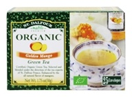 St. Dalfour - Green Tea Premium Organic Golden Mango - 25 Tea Bags by St. Dalfour