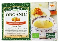 St. Dalfour - Green Tea Premium Organic Mandarin Orange - 25 Tea Bags (084380969546)