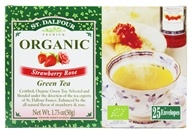 St. Dalfour - Green Tea Premium Organic Strawberry Rose - 25 Tea Bags (084380969744)