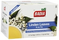 Badia - Linden Leaves Tea - 25 Tea Bags by Badia
