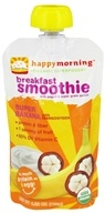 HappyBaby - HappyMorning Organic Superfruit + Supergrain Breakfast Smoothie Super Banana - 4.22 oz. by HappyBaby