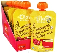 Ella's Kitchen - Organic Baby Food Stage 1 For 4 Months & Older Bananas, Apricots and Baby Rice - 3.5 oz. CLEARANCE PRICED