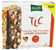 Kashi - TLC Peanutty Dark Chocolate Layered Granola Bars - 6 x 1.1 oz. Bars (018627550921)