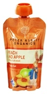 Peter Rabbit Organics - Organic Fruit Snack 100% Pure Peach and Apple - 4 oz. (815367010063)