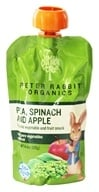 Peter Rabbit Organics - Veg and Fruit Puree 100% Pea, Spinach and Apple - 4.4 oz., from category: Health Foods