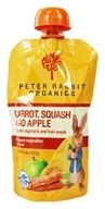 Peter Rabbit Organics - Veg and Fruit Puree 100% Carrot, Squash and Apple - 4.4 oz., from category: Health Foods