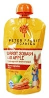 Image of Peter Rabbit Organics - Veg and Fruit Puree 100% Carrot, Squash and Apple - 4.4 oz.