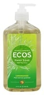 Image of Earth Friendly - Hand Soap Organic Lemongrass - 17 oz.