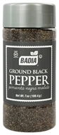Badia - Ground Black Pepper - 7 oz.