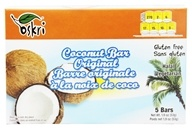 Oskri - Organic Coconut Bars Gluten-Free Original - 5 Bars, from category: Nutritional Bars