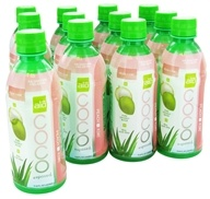ALO - Coco Exposed Pure Coconut Water + Real Aloe Vera Peach + Kiwi - 11.8 oz., from category: Health Foods