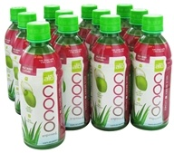 ALO - Coco Exposed Pure Coconut Water + Real Aloe Vera Goji Berry + Lychee - 11.8 oz., from category: Health Foods