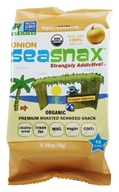 SeaSnax - Lightly Roasted and Seasoned Seaweed Grab & Go Pack Toasty Onion - 0.21 oz. - $1.44